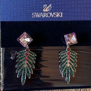 Swarovski Gisele palm leaf convertible earrings